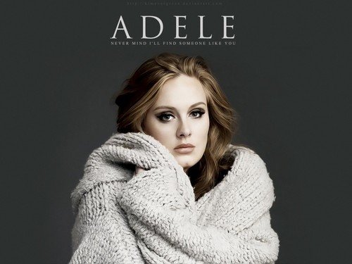 Adele Hintergrund possibly with a pelz mantel entitled Adele <3
