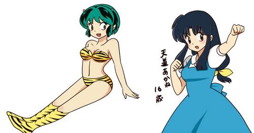 Akane Tendo and Invader Lum (Rumiko Takahashi characters)