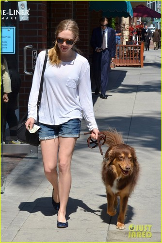 Amanda Seyfried: Monday Errands with Finn!