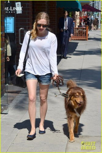 amanda seyfried wallpaper entitled Amanda Seyfried: Monday Errands with Finn!