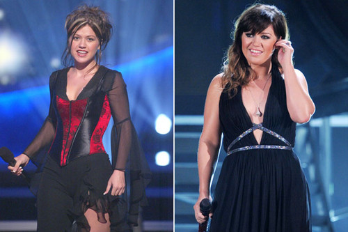 American Idol-Kelly Clarkson-Then and Now