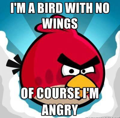 angry birds wallpaper with animê titled Angry Birds Funnies!