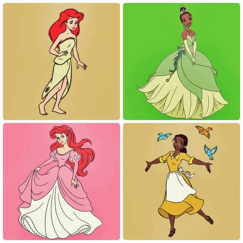 Ariel and Tiana