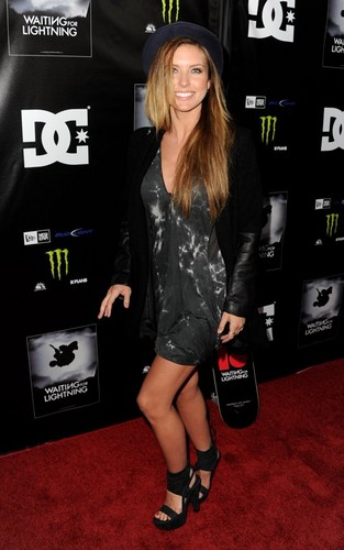 "Audrina Patridge wallpaper entitled Audrina Patridge with Corey Bohan at the Los Angeles Screening Of ""Waiting For Lightning"""