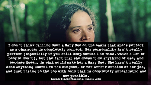 "BBC Merlin Confession - ""Mary Sue"""