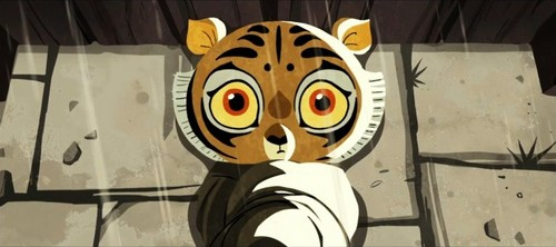 Baby Cub tijgerin, die tigerin