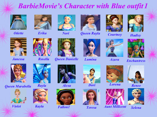 BarbieMovie's Character with Blue outfit