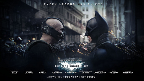 Batman vs Bane - the-dark-knight-rises Photo