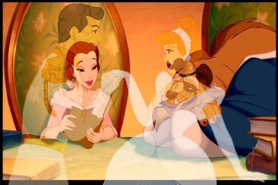Belle reads Aschenputtel to the Beast