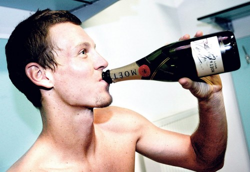 Berdych with Moet