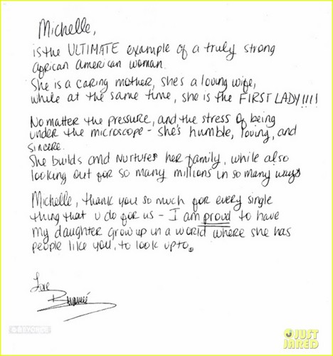 Beyonce Writes Michelle Obama Open Letter