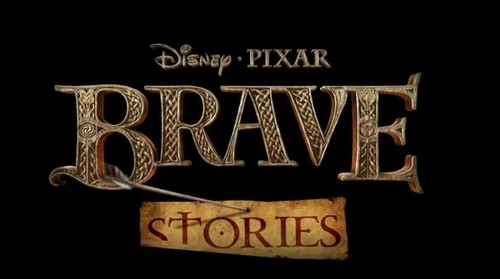 Ribelle - The Brave Stories: Merida - Arrow Hits the Word 'Stories'
