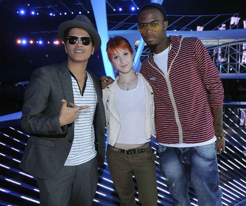Bruno Mars, B.o.B and Haley Williams
