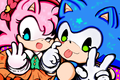 Can't catch us - sonic-and-amy fan art