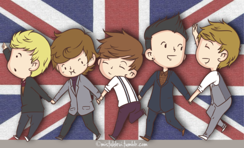 one direction fondo de pantalla probably containing anime called Cartoon of 1D