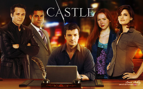 Castle wallpaper containing a laptop titled Castle Tv Show wallpapers