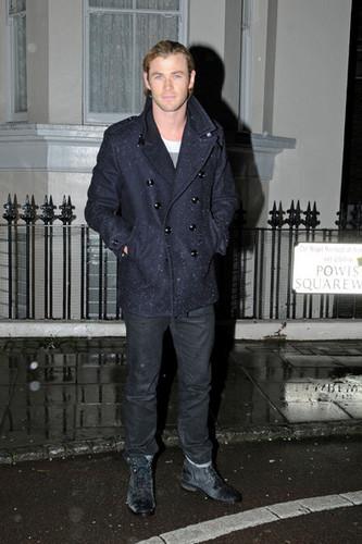 Chris Hemsworth in the Rain