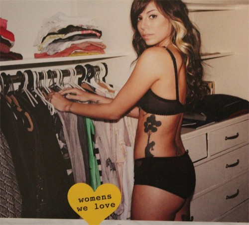 Christina Perri wallpaper possibly containing an underwear, a bikini, and a swimsuit entitled Christina Perri getting dressed (London Fhm photoshoot)