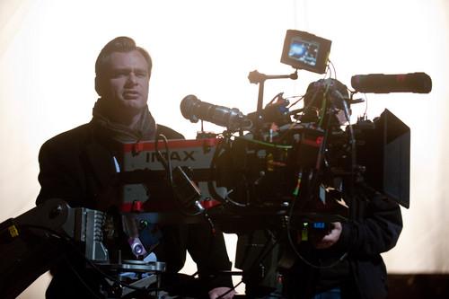 Christopher Nolan On the Set
