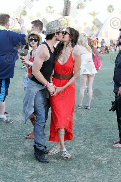 Coachella Kiss! - ian-somerhalder-and-nina-dobrev photo