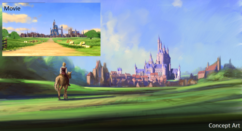 Concept art / movie comparison no.5