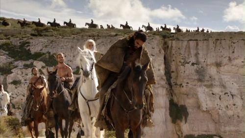 Daenerys and Drogo with Dothraki