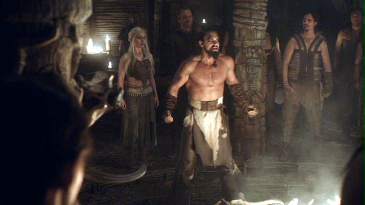 Daenerys and Drogo with Dothraki