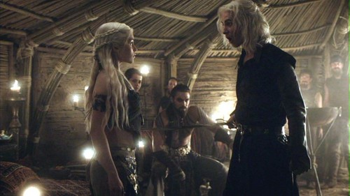Daenerys and Viserys with Drogo