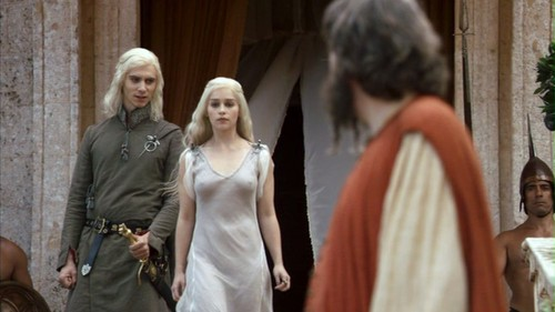 Daenerys and Viserys with Illyrio