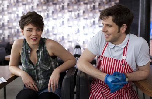 Damien & Kate on-set