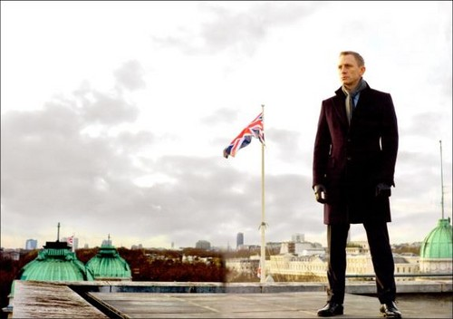 Daniel as James Bond in Skyfall