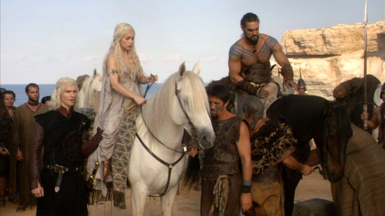 Dany and Drogo with Dothraki