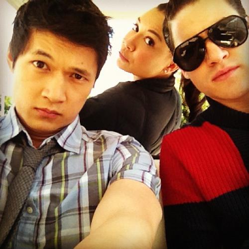 Darren with Harry Shum Jr & Naya Rivera