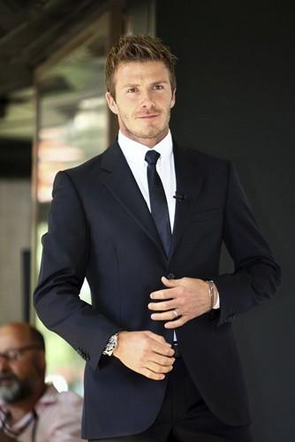David Beckham suit