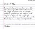 Dear Mick Letter