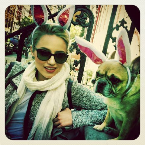 Dianna Agron's Easter Pic
