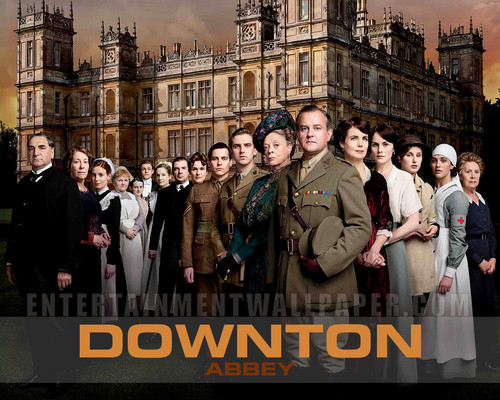 Downton Abbey 바탕화면 with a street, a business suit, and a 갈색 사암, 사암 titled Downton Abbey <3