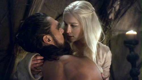 Khal Drogo wallpaper with a portrait and skin titled Drogo and Daenerys