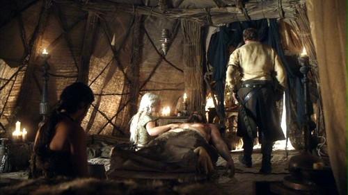 Drogo and Daenerys with Jorah