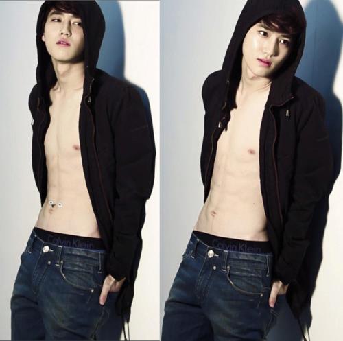 EXO-K モデル for Calvin Klein in 'High Cut' magazine