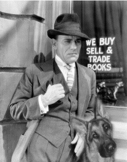 Edward Dillinger and his dog Coach