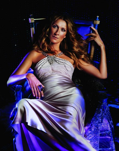 Celine Dion achtergrond containing a avondeten, diner dress, a gown, and a bridesmaid called Enchanting
