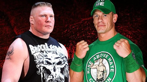 WWE wallpaper titled Extreme Rules:Brock Lesnar vs John Cena