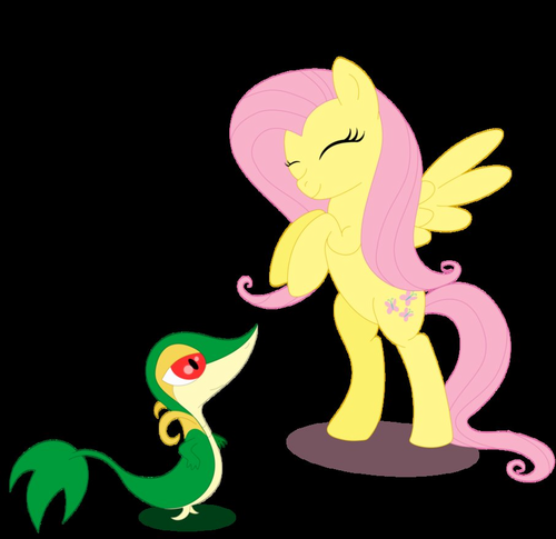 Fluttershy and Snivy~<3