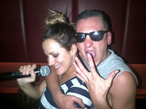 Gareth and Caroline Flack