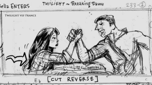 Glimpses at THE TWILIGHT SAGA: BREAKING DAWN - PART 2 script and storyboard found on BREAKING DAWN -