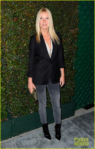Gwyneth Paltrow wallpaper with a business suit and a well dressed person titled Gwyneth Paltrow: 'My Valentine' Premiere Party!