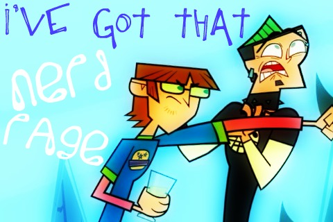 Total Drama Island wallpaper titled Harolds got that nerd rage!