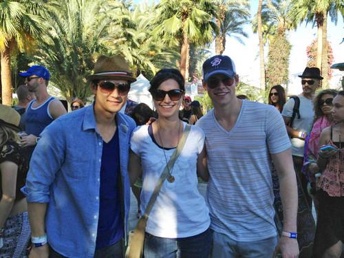 Harry, Sonya English and Chord at Coachella