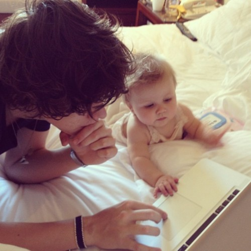 Harry & baby Lux♥